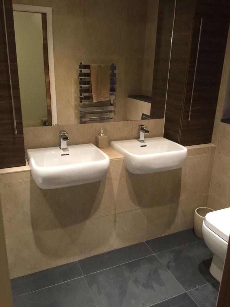 Customer en-suite bathroom using Moleanos #limestone and Brazilian #slate to create a calming and luxurious space #interiordesign #homes #bathroomideas #luxury #naturalstone #flooring