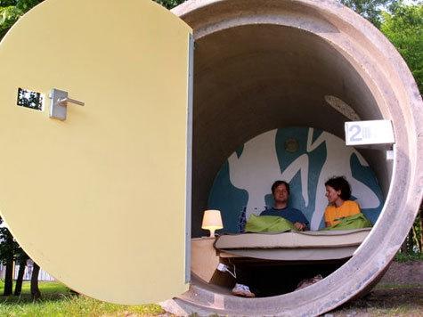 Hotel aus Betonröhren im Bottroper Bernepark | Hotelreisen