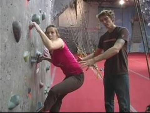 Indoor Rock Climbing Basics : Beginning Techniques for Indoor Rock Climbing - YouTube