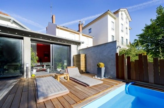 17 meilleures id es propos de terrasse sur lev e sur pinterest piscine resine piscine - Piscine contemporaine lyon mulhouse ...