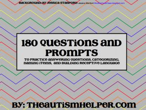 180 Questions and Prompts to Build Expressive & Receptive Language - FREEBIE {I use these with my students with autism every morning}