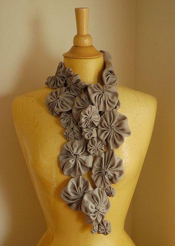 washable silk wip -- yo yo scarf: folded by Marie the Bee, via Flickr