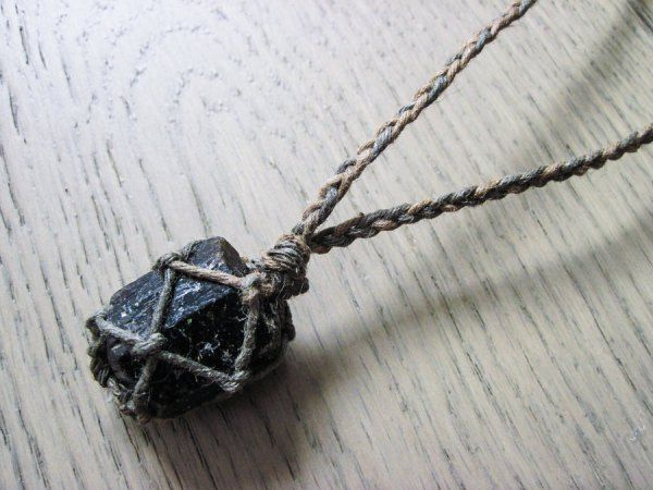 $31USD || Black Tourmaline Necklace, Black Stone Necklace, Black Tourmaline Jewelry, Healing Crystal Necklace
