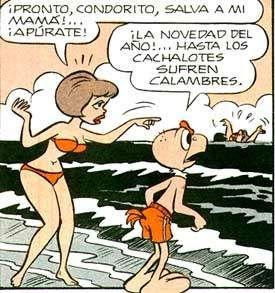 Personajes de Condorito-novia-condorito-playa.jpg