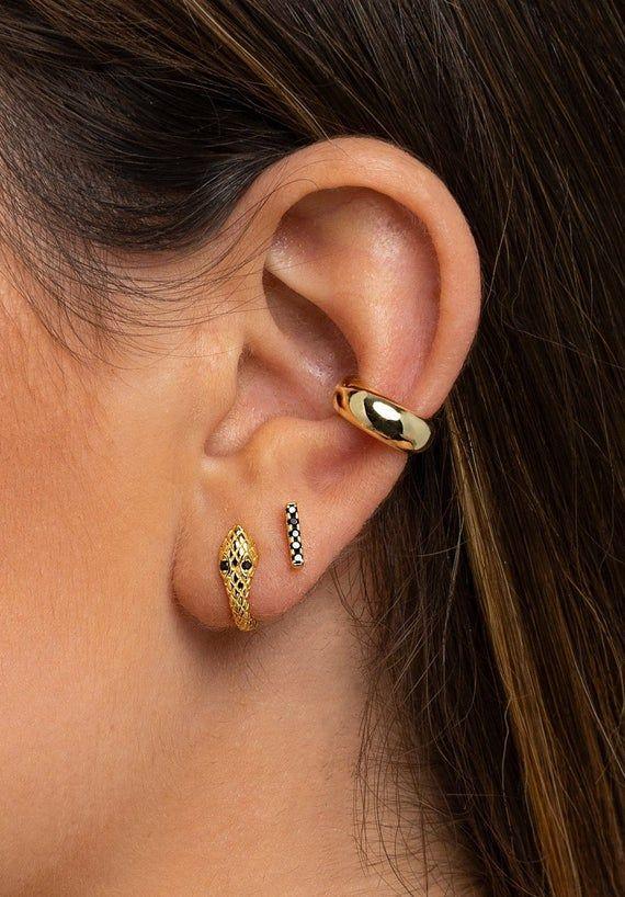 Snake Earrings gold delicate Snake hoops Snake Hoop Dainty Earrings Snake Charm Earrings Snake Hoop Earrings Gold Huggie Hoops