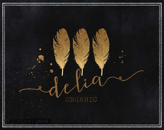 Label Logo Design. Premade Skin Care Template. Feather by EasyLogo