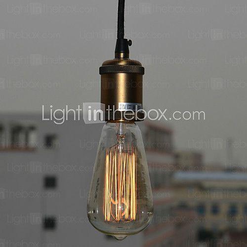 60W Minimalist Modern Pendant Light with Glass Shade(E27/E26 Base) - USD $29.84