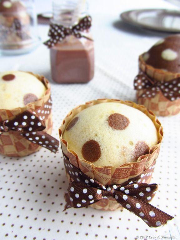 Kokos und Vanille: Vanille und Schokolade Cupcakes (Dampf)