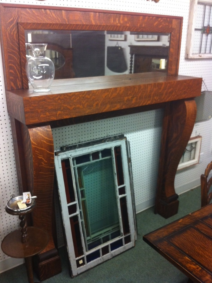 Tiger Oak Mirrored Mantle For The Home Pinterest Mantle Victorian Fireplace And Early