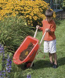 perfectly sized for small gardeners this adult quality wheelbarrow encourages children to participate in