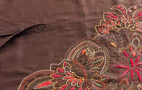 We embroid every weave and texture for the high fashion industry. #embroidery #amricami