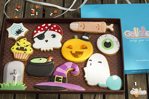 Pack Grande Halloween, diseño Galletea.  http://www.galletea.com/galletas-decoradas/