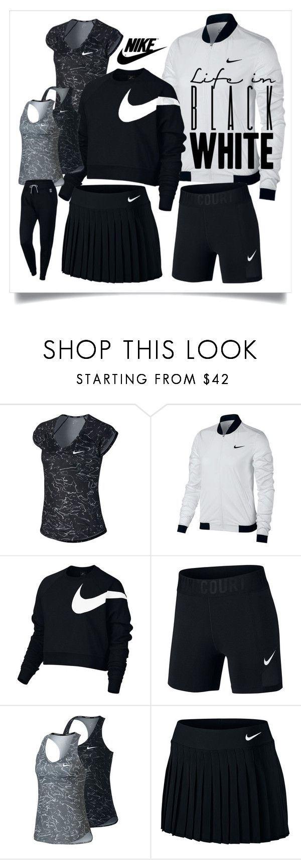 """""""New Nike Tennis Fashion for Women"""" by tennisexpress ❤ liked on Polyvore featuring NIKE, nike, tennis, tennisfashion, TennisExpress and athleticdna"""