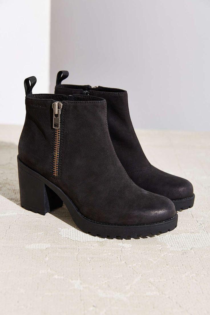 Vagabond Nubuck Grace Double Zip Boot - Urban Outfitters