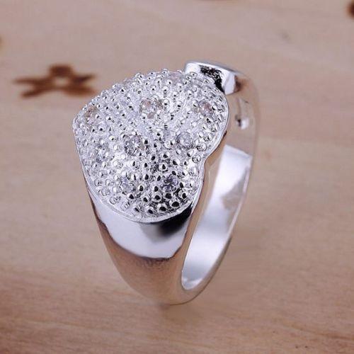 День отца подарков, день отца, НОВАЯ Мода Стерлингового Серебра 925 Свадебные красивые женщины хрустальное сердце кольцо + R27
