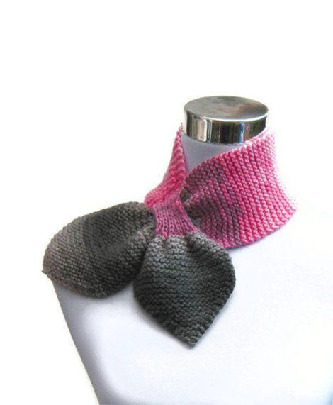 key hole scarves to knit | Ascot/Keyhole/Bowtie scarf: Free Knitting and Crochet pattern! | Hachi ...