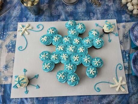 Ice skating party cupcakes
