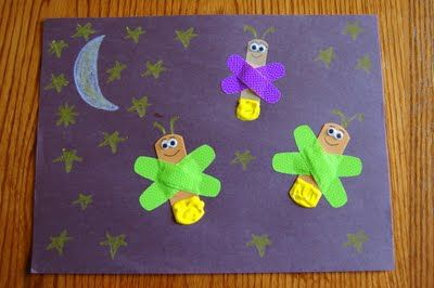 """Story time Tuesday """"The Very Lonely Firefly"""" with Craft needed Very Lonely Firefly book, construction paper, Band-Aids, chalk wiggly eyes."""