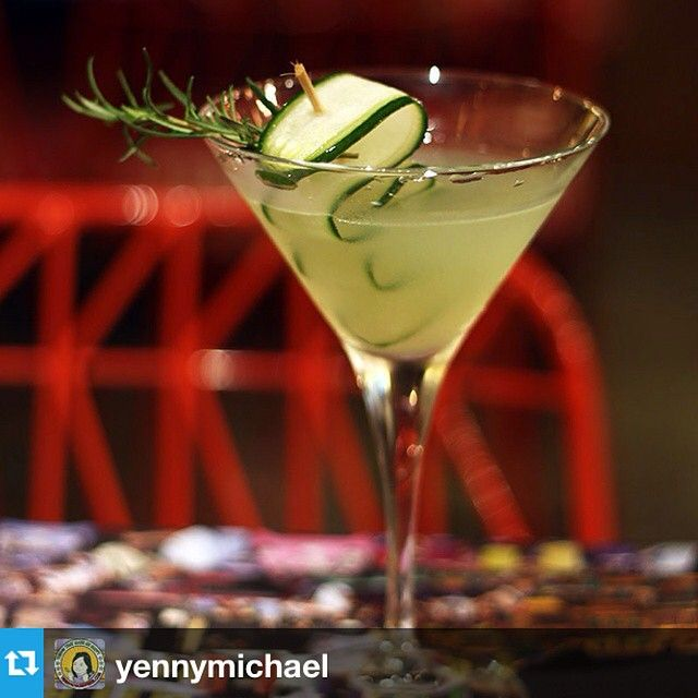 Cucumber Gimlet, A delicate and comforting cocktail made of fresh muddled cucumber, ice cold gin and rosemary #drinks #CucumberGimlet #H5 #howdyhelloholaheyho #opcoindonesia https://www.facebook.com/H5OPCO