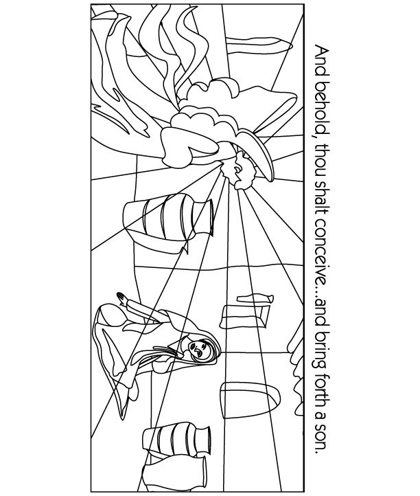 17 best images about coloring bible nt gospels for Gabriel visits mary coloring page