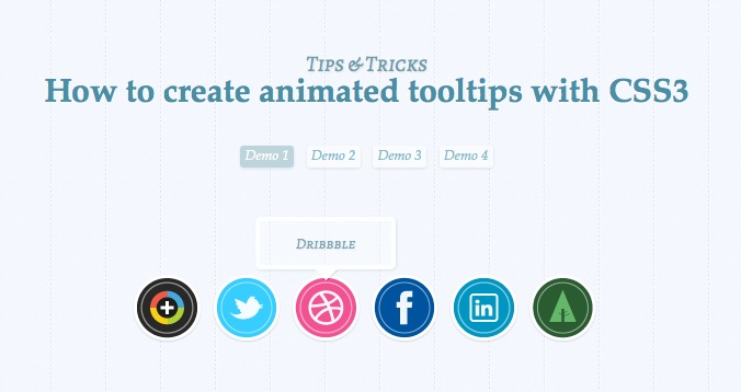 Create Animated Tooltips With CSS3.