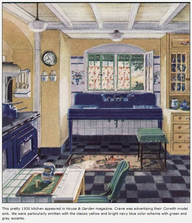 1930 Crane Kitchen another sink alcove ) Bungalow