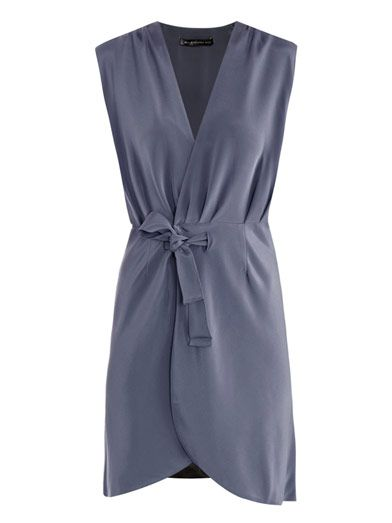 BALENCIAGA - Silk wrap dress