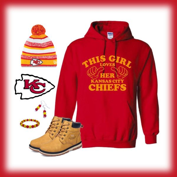 Kansas City Chiefs Game Day Style.  Click to shop the look!  #Chiefs #Football #GameDay