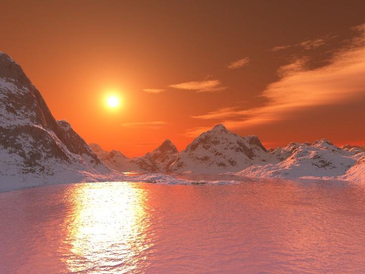 Arctic Sunset Sunsets Nature S Art Pinterest