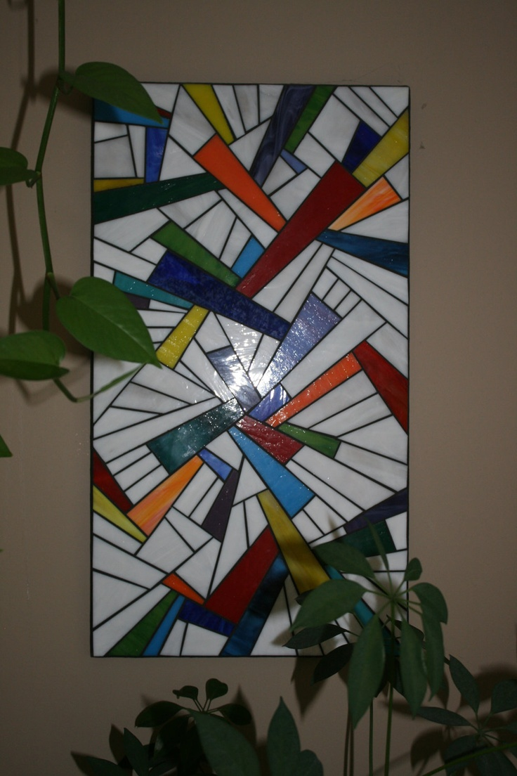 Stained Glass Mosaic on Wood Panel