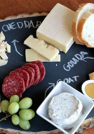 DIY Chalk Board Cheese Platter.