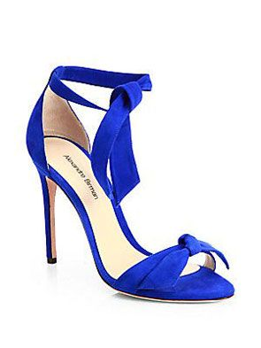 royal blue heels with ankle tie. #mwbridalstyle #bhldnbride
