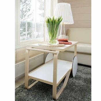 Designed in 1935 by Alvar Aalto himself, this tea cart creates a very special, unique side table. Artek Alvar Aalto 901 - Tea Cart