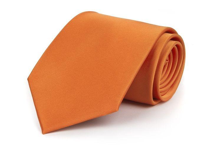 Unifarbene Krawatte in exklusivem orange - etado.de | Firmen-Krawatten