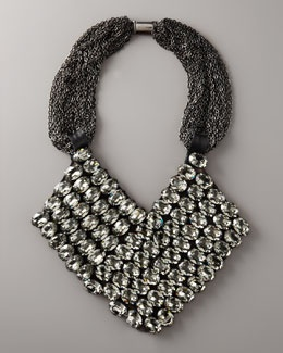 ~ V. W. Rhinestone Chevron Necklace ~ Vera Wang Starts this NECKLACE With Signature Gunmetal Chains that support a black bib strewn w/ large rhinestones Their Asymmetric Chevron arrangement adds the off-kilter kick you crave.: Vera Wang, Rhinestones Chevron, Statement Necklaces, Wang Jewelry, Wang Rhinestones, Wang Statement, Statement Jewelry, Necklaces 1395 Dollar, Chevron Necklaces 1395