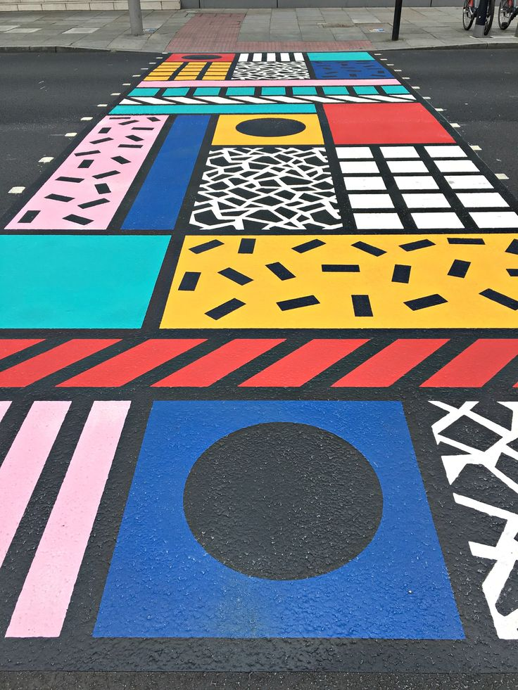 Camille Walala 's colourful crossing for the London Design festival 2016.