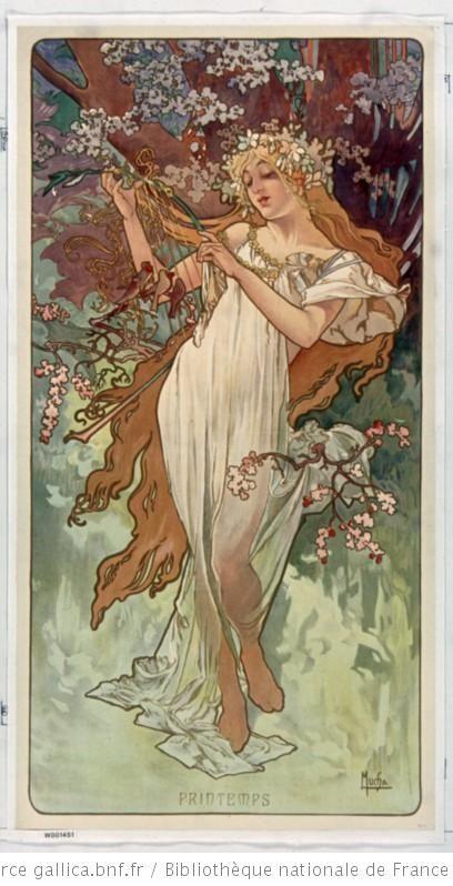 [Les Saisons] : [variantes avec le nom des saisons] : [panneaux décoratifs] / Mucha - 1896