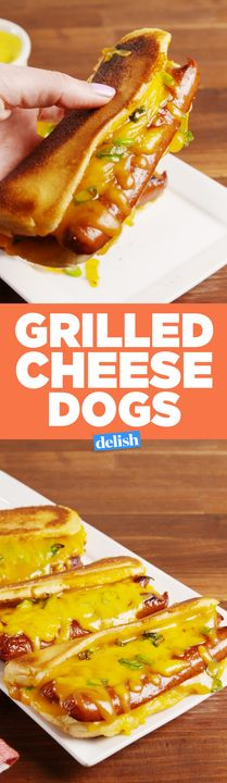 Once you try Grilled Cheese Dogs, you'll never eat a hot dog the same way again. Get the recipe from Delish.com.