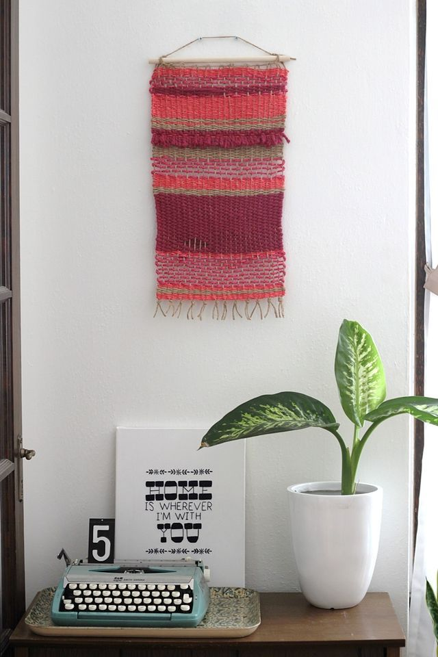 Woven Wall Hanging DIY / Smile and Wave