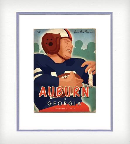 Auburn vs Georgia Vintage-Style Print