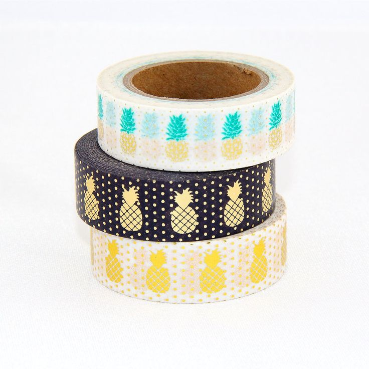 High quality Christmas masking tape pineapple image adhesive Japanese washi tape