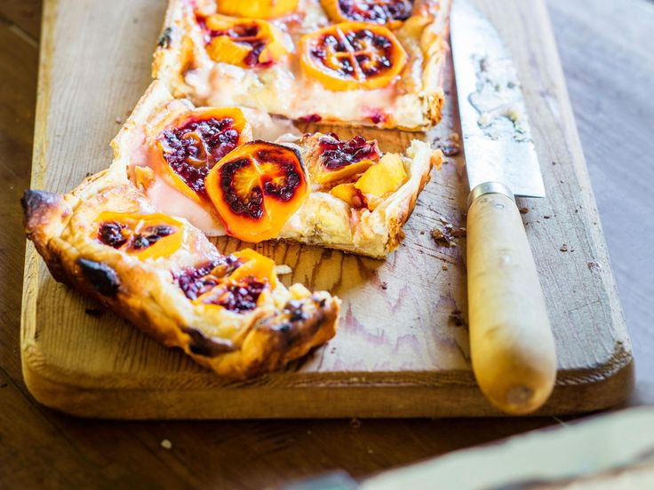 Nici Wickes' tamarillo and brown sugar custard tart recipe is so easy to make! Whip up this divine dessert in a jiffy using store-bought pastry and serve while still warm. Delish!