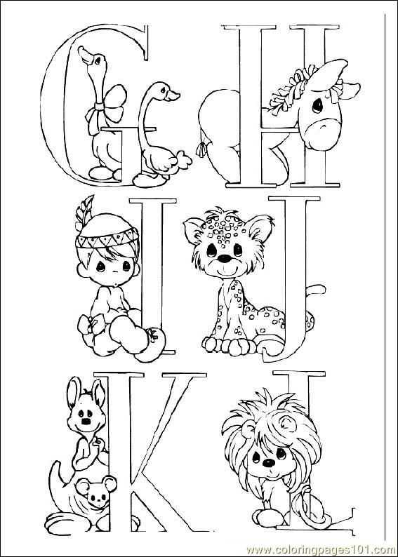 Coloring Pages Preciousmoments 02 (Cartoons Precious moments) - free printable coloring page online