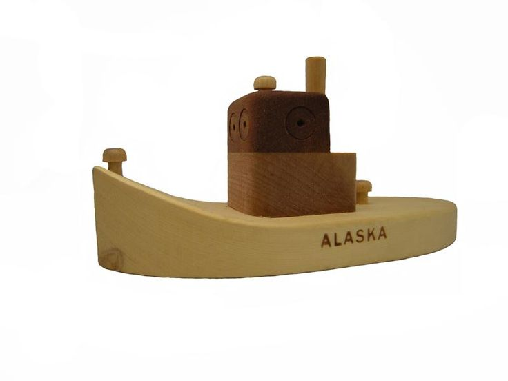 alaska wooden toy boat