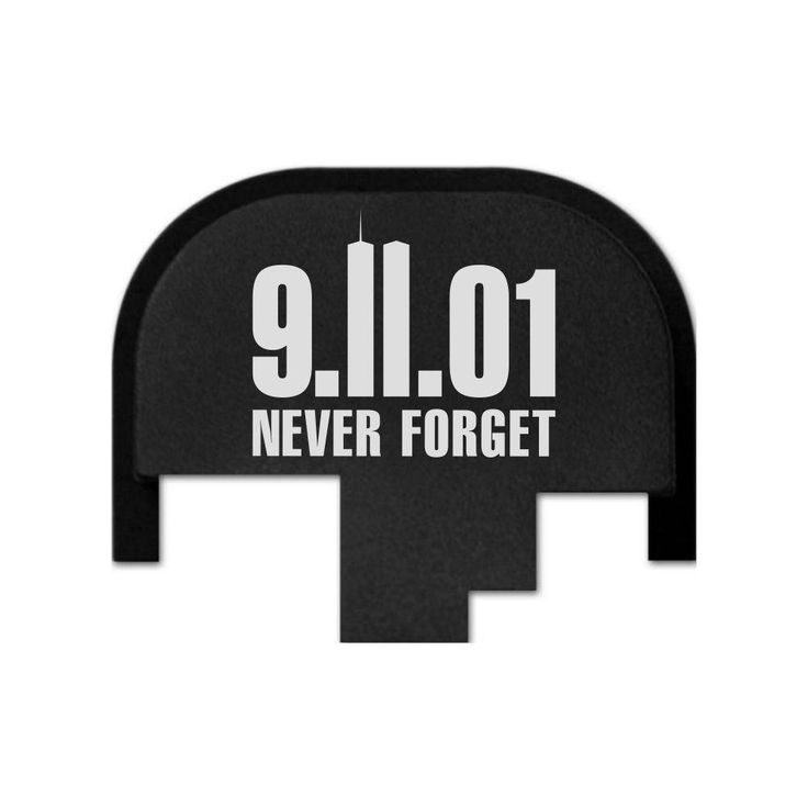 REAR SLIDE PLATE FOR SW M&P 9MM OR .40 - 911 NEVER FORGET