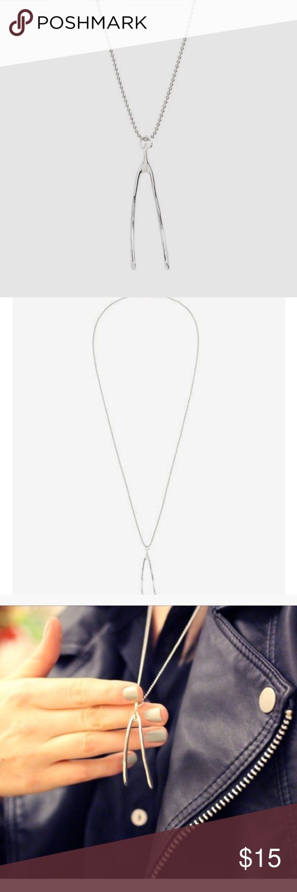 Marc by Marc Jacobs Silver Wishbone Necklace Silver beaded chain. Marc by Marc Jacobs Jewelry Necklaces
