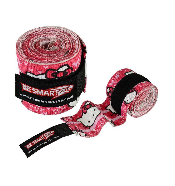 Kitty Ladies Boxing Hand Wrap Bandages MMA Bag Gloves Muay Thai Inner Glove