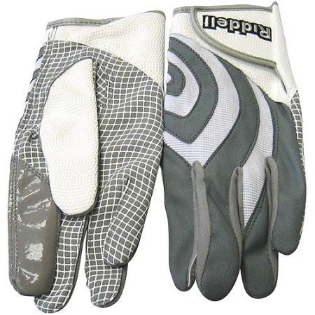 Riddell Stealth Tac Speed Adult Football Glove Receiver/Running Back, Gray
