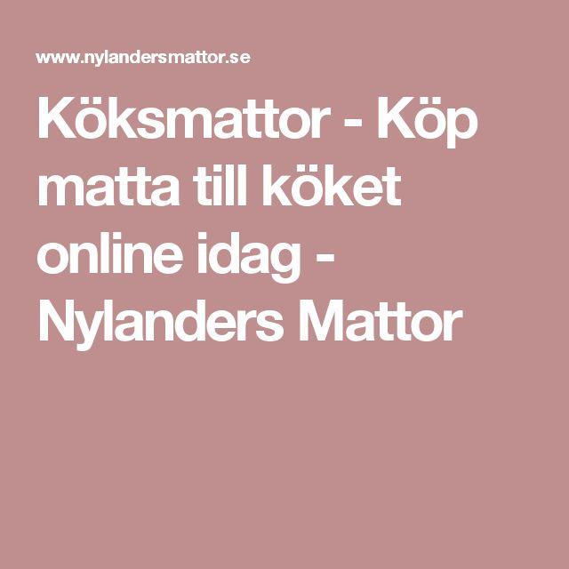 Köksmattor - Köp matta till köket online idag - Nylanders Mattor