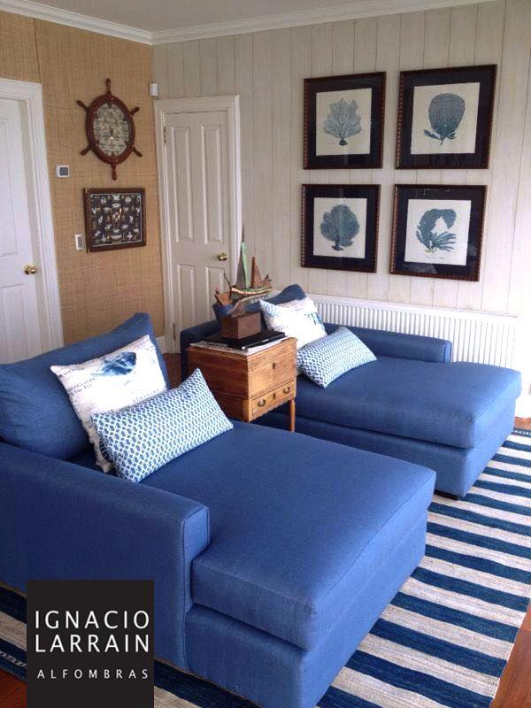 Casa en Cachagua donde predomina el color azul. Decorada por Mónica Cazés y Beatriz Cummins